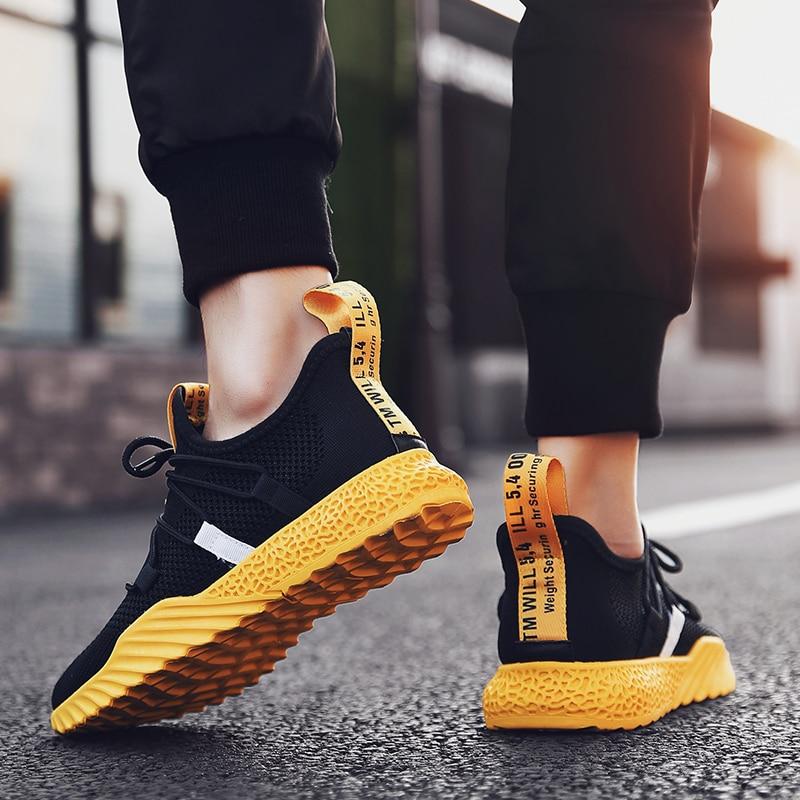 HTB1gEhfJ3HqK1RjSZFEq6AGMXXaP 2019 New Casual Shoes Men Breathable Autumn Summer Mesh Shoes Sneakers Fashionable Breathable Lightweight Movement Shoes