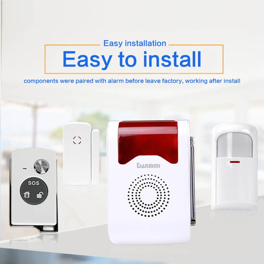 YA-302 Wireless Voice Acousto-optic Site Alarm Day/Night Working Spot Dector Home Alarm System Max Study 160 Detectors 433mhz wireless voice acousto optic site alarm burglar alarm system