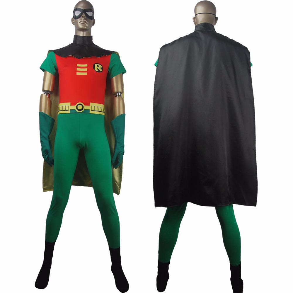 Teen Titans Go Superhero Robin Suit Outfit Cosplay -2447