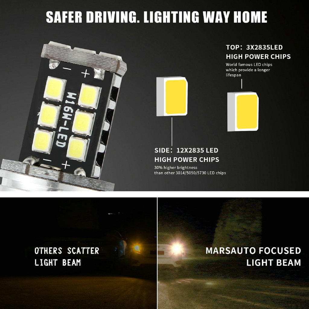 Image 3 - New LED Lamps For Cars 1156 P21W BA15S 2835 15LED Canbus Car Reverse Backup Tail Light Bulb White Turn Signals Light-in Signal Lamp from Automobiles & Motorcycles