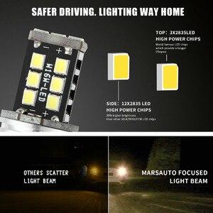 Image 3 - Nuevas lámparas LED para coches 1156 P21W BA15S 2835 15LED Canbus coche marcha atrás bombilla de luz trasera blanca intermitente Luz