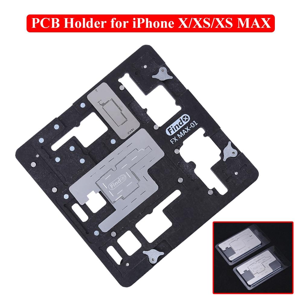 Support de carte PCB avec BGA Reballing Kits de pochoir pour iPhone X XS XS MAX carte mère pince montage plantation étain Outils de réparation Outils