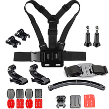 SHOOT Helmet Mount Cycling Accessory Set For GoPro Hero 5 4 3 HERO5 Xiaomi Yi 4K SJCAM SJ4000 Eken h9 Action Camera Go Pro Kits