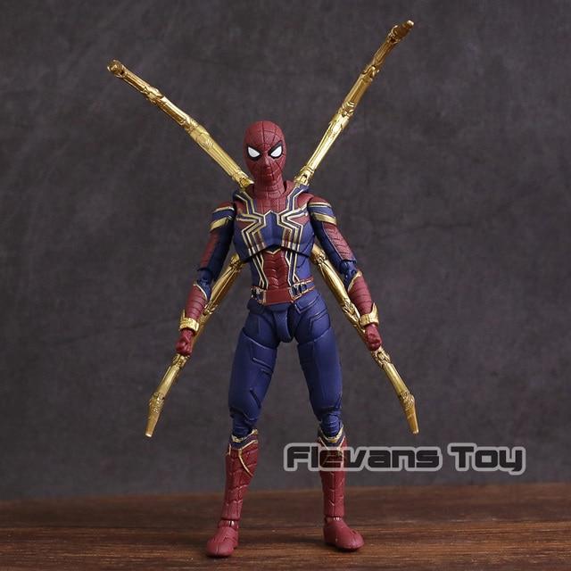 Vingadores Marvel Infinito Guerra Ferro Aranha Spiderman PVC Action Figure Collectible Modelo Toy