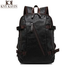 Men Mix Cow Leather Backpacks Men's Fashion Backpack & Travel Bags Western College Style Bags Mochila Feminina