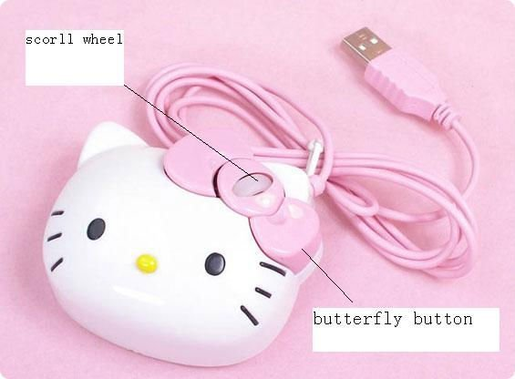 Hello Kitty Computer Mini Mouse Girl Love