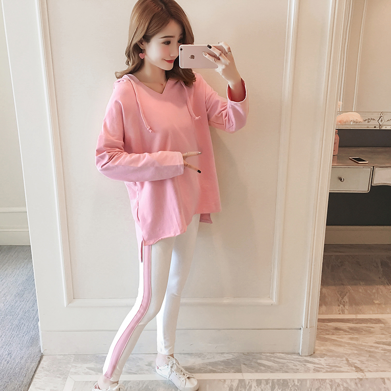 Afei Tony High Quality maternity clothes Long Sleeve Loose Casual 2018 Autumn Sexy Fashion 2 piece set pregnancy clothes 3