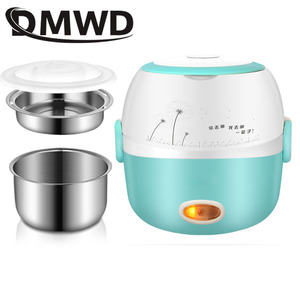 Image 4 - DMWD MINI Rice Cooker Thermal Heating Electric Lunch Box 2 Layers Portable Food Steamer Cooking Container Meal Lunchbox Warmer