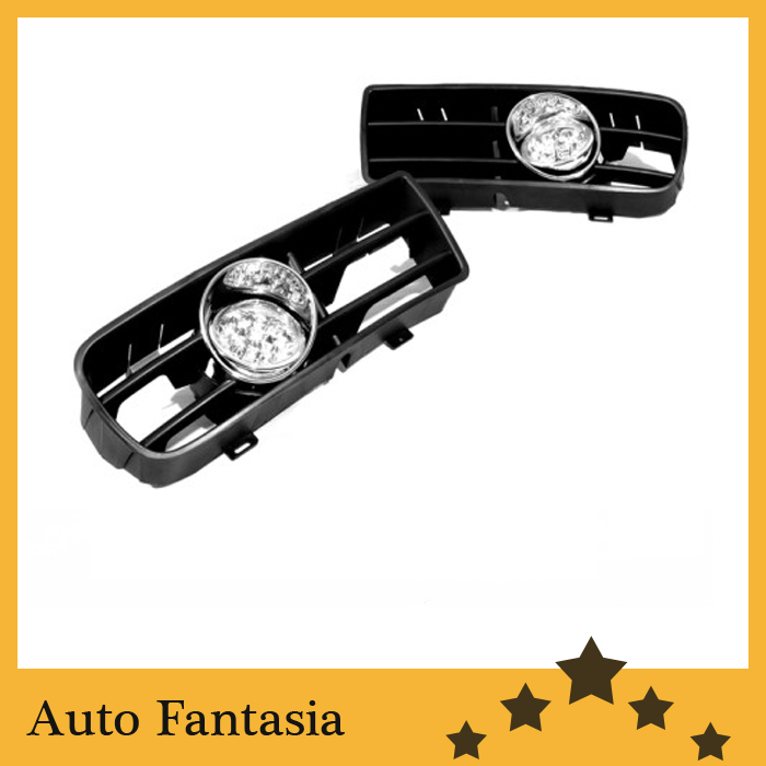 Front Fog Light Kit (White LED) for VW Volkswagen Golf MK4 bumper grille front fog light kit with led surround for vw golf mk4