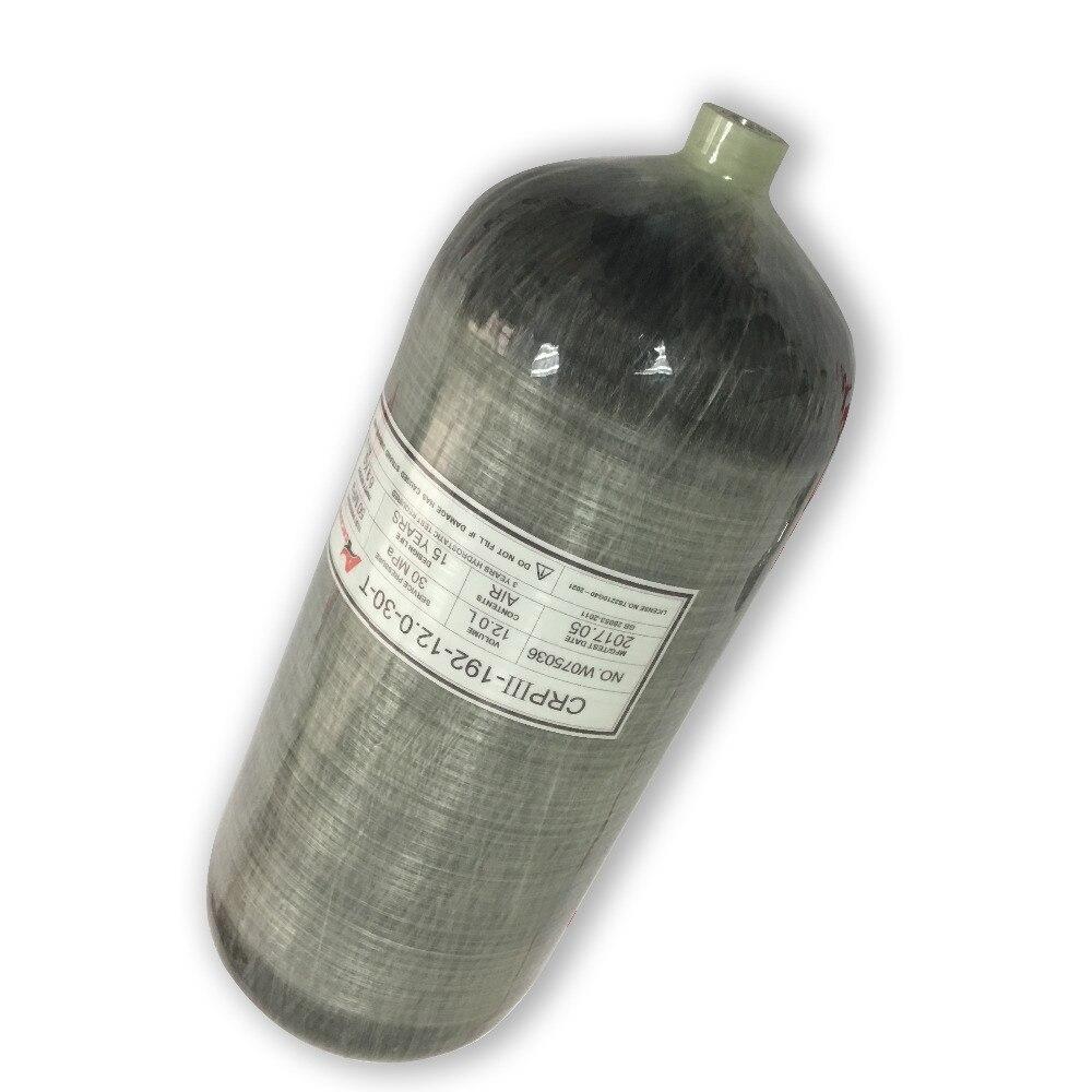 AC3120 12L GB Fiber De Carbone Cylindre 4500psi Mini Bouteille De Plongée PCP Pistolet/Pcp Carabine À Air Comprimé/Condor Pcp/ fusil Pour Plongée sous-marine Acecare-S