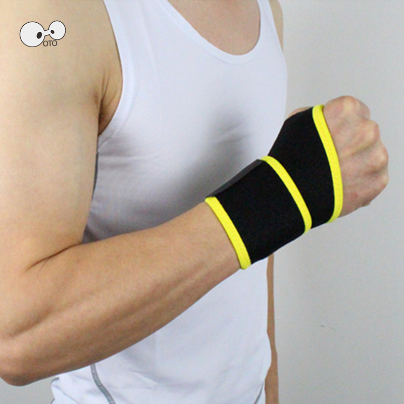 2PC Weight Lifting Fitness Bandage Wristband Hand Wrist Straps Support Wrist Protector Carpal Tunnel Wrist Brace Gym Sport Wraps