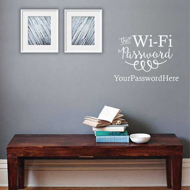 the wifi password sign guest wall sticker home decor for living room