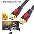 1 M, 2 M, 3 M, 5 M HDMI CABO Banhado A Ouro Plugue Macho-Macho HDMI cabo de alta qualiyt cabo hdmi para PS3 PS4 XBOX CABO HDMI caixa de tv para ps5