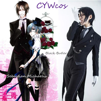 Anime Cosplay Black Butler Ciel Phantomhive Cosplay Costume Halloween Party Suits Costumes Customized
