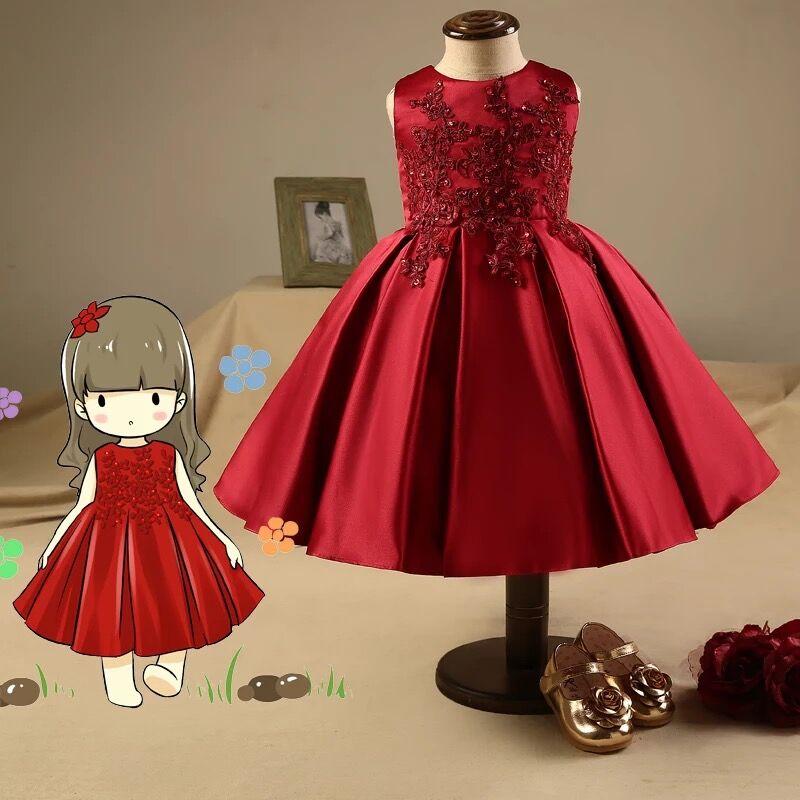 De Bodas Para Ninas Vino Color Vestidos