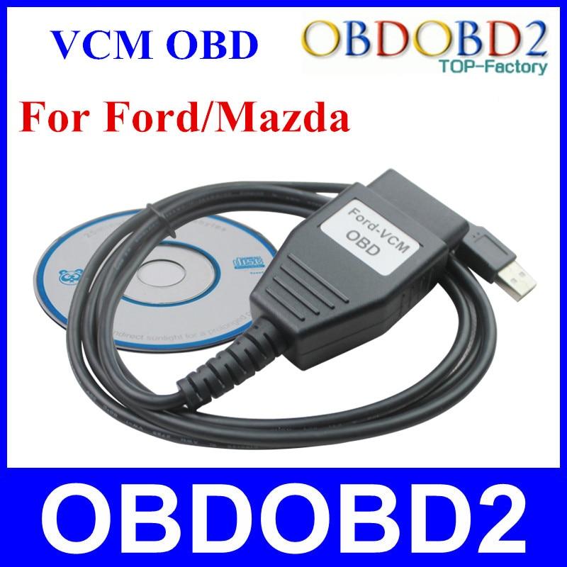 Prix pour Prix usine Pour Ford VCM OBD2 Professionnel Interface De Diagnostic Pour Ford/Mazda OBDII USB Câble De Diagnostic Livraison Gratuite