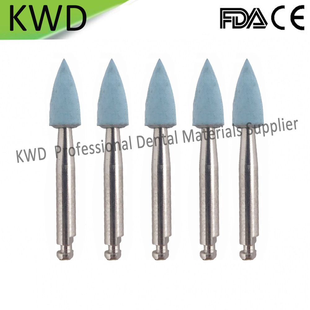 100pcs Lot Blue Fine RA 2 35mm Dental Burs Silicon Prophylaxis Polisher For Polishing Ceramic Dental