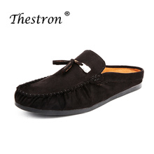 2019Fashion Leather Slippers Men Animal Rubber Light Fashion Slides Men Funny Shoes New Sandals Summer Leather Slippers Platform цена