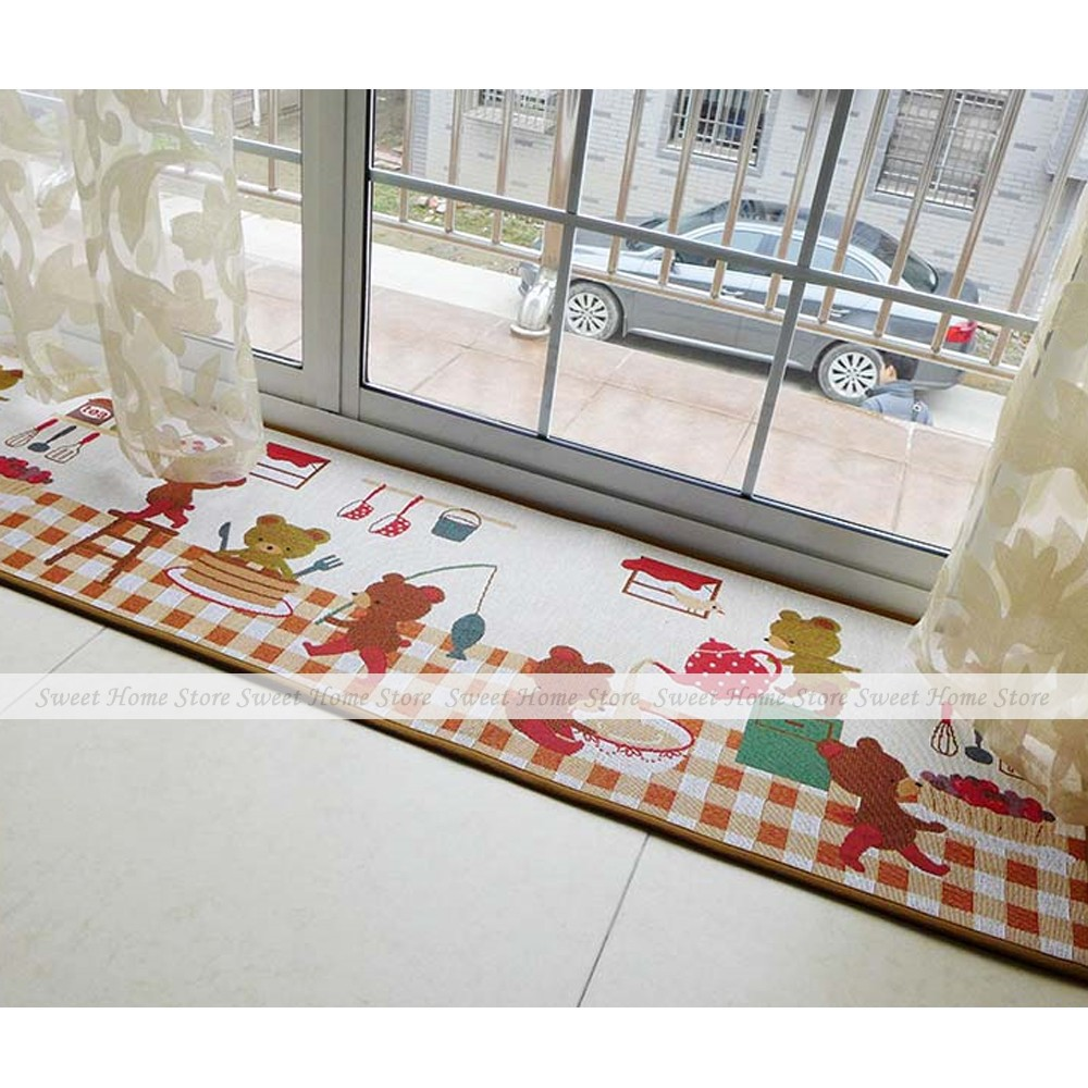 Kitchen Runner Rug In Brown Available Custom Sizes Up To 30m