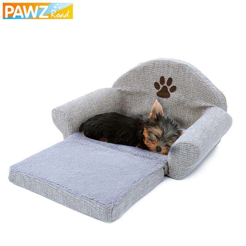 リムーバブルペット犬のベッドソフト犬のソファ犬小屋足デザインの犬猫ハウス洗えるペットクッションマットペットベッド動物ペット製品
