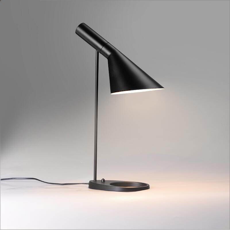 Replica Danmark Aj Table Lamp Modern Designer Desk For Bedroom Living Room Office Metal Black White Led Desktop Aliexpress Imall