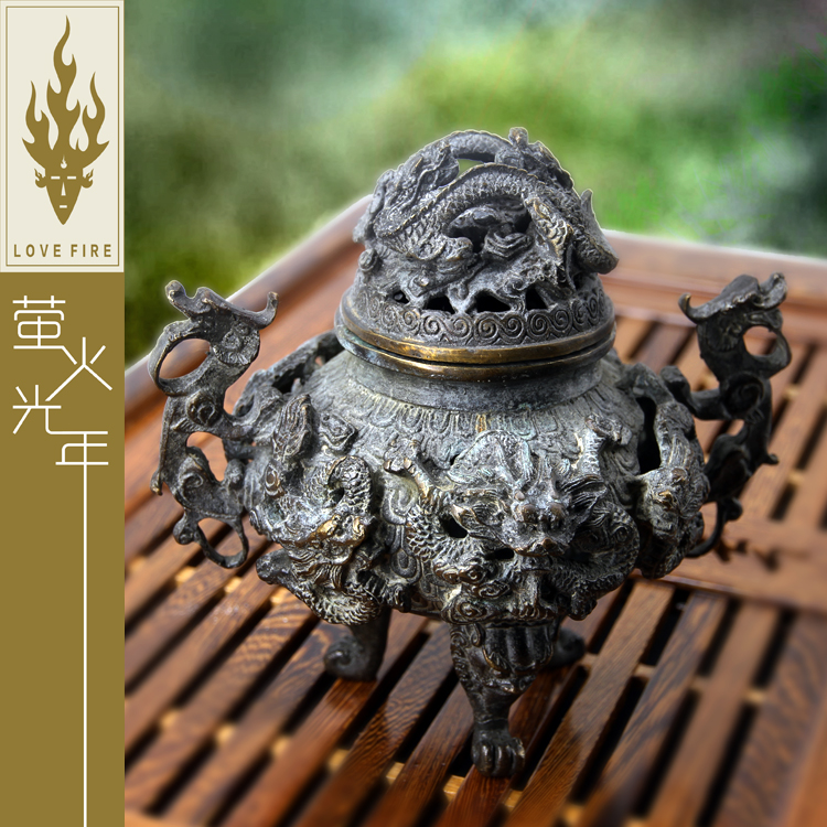 Chinese ancient incense ash fine copper engravingChinese ancient incense ash fine copper engraving