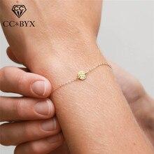 CC браслеты из стерлингового серебра 925 пробы для женщин, простой дизайн, регулируемые браслеты, OL стиль, хорошее ювелирное изделие, офисные аксессуары CCB051