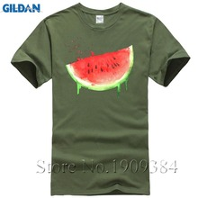 7951ba37e2bb9 Acuarela de sandía frutas de verano confort colores camisetas de los hombres  de gran tamaño de manga corta nueva T camisas
