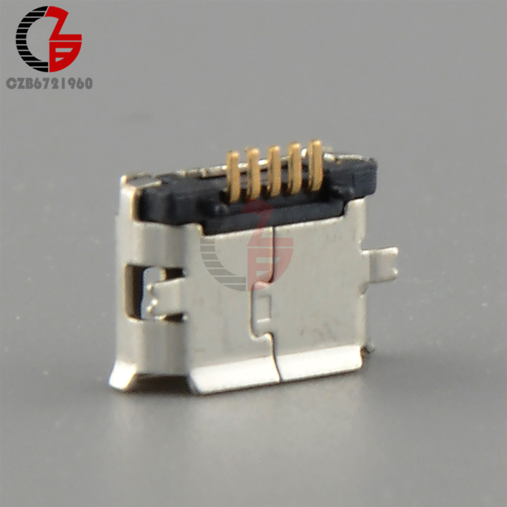 10PCS Type B Micro USB 5P 5-pin Micro USB Jack 5Pins Micro USB Female Connector DIY