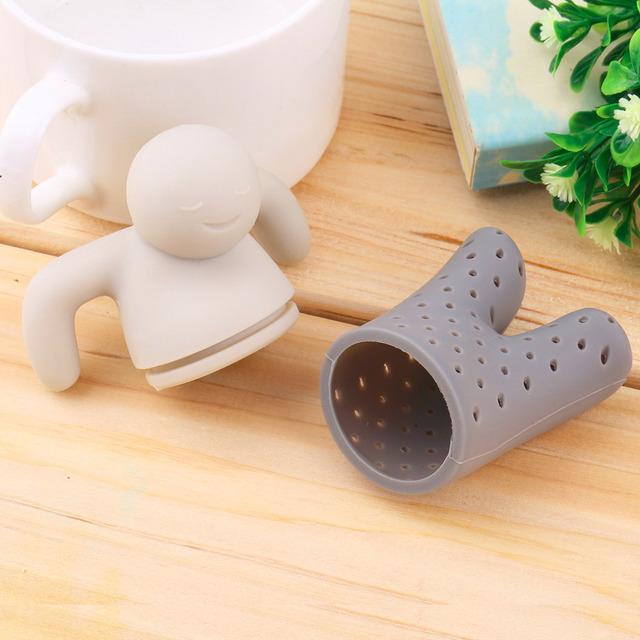 1pc 2016 Human Shape Teapot cute Mr Tea Infuser