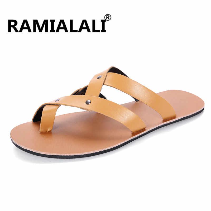 30bc96d7b3 ... Summer Men Sandals 2019 Mens Gladiator Sandal Flat Heel Breathable  Shoes Casual Mens Shoes Beach Sandals ...