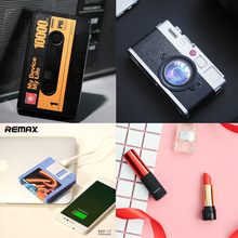 Remax Portable Lipstick Mini 10000mah Power bank 10000 mah Powerbank 2400mah Tape Camera 2A External Backup USB Battery Charger