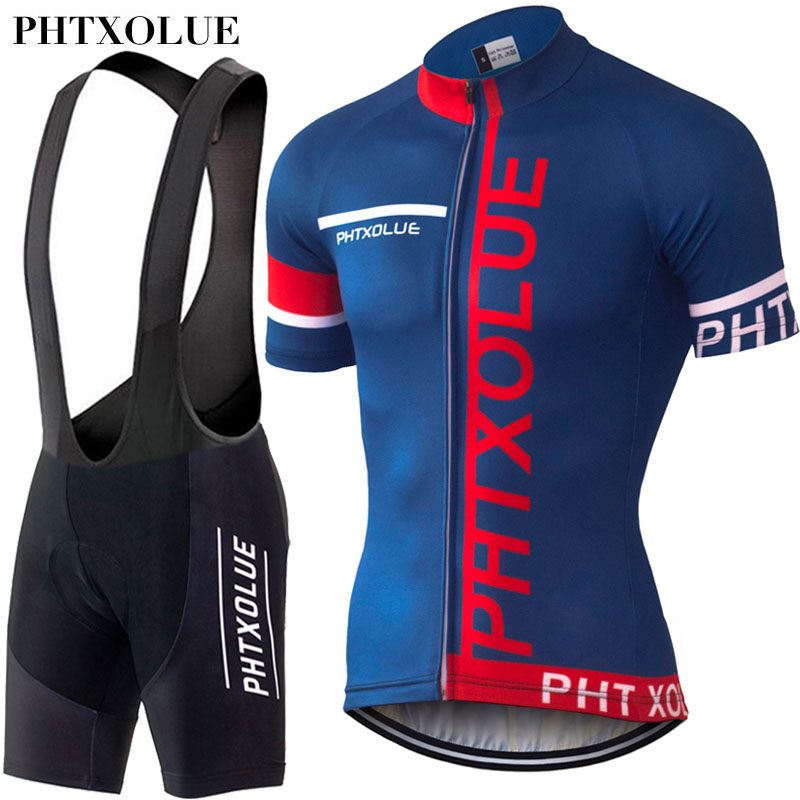 PHTXOLUE Cycling Clothing Bicycle Wear Breathable Bike Clothing Cycling Sets Short Sleeve Cycling Jerseys Maillot Ropa