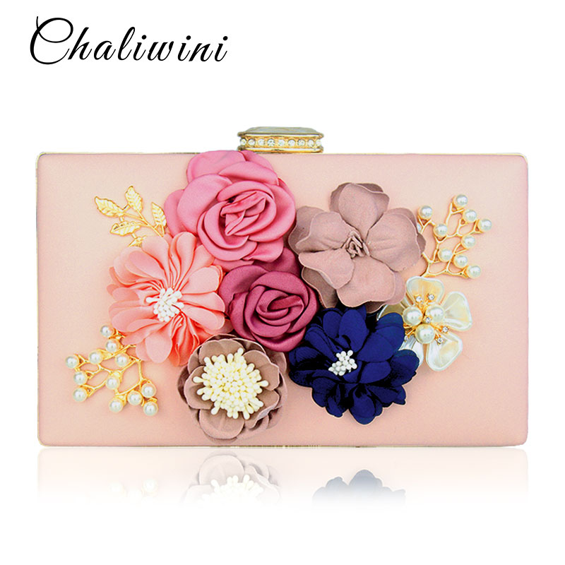 Chalwini Women Clutch Bag Ladies Black Evening Bags Ladies Royal Blue Day Clutches Purses Female Pink Wedding Bag