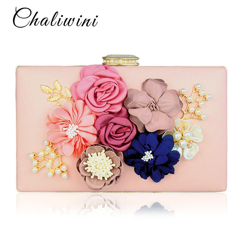 Chalwini Women Clutch Bag Ladies Black Evening Bags Ladies Royal Blue Day Clutches Purses Female Pink Wedding Bag