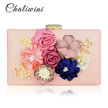 Chalwini Women Clutch Bag Ladies Black Evening Bags Ladies Royal Blue Day Clutches Purses Female Pink Wedding Bag цена и фото