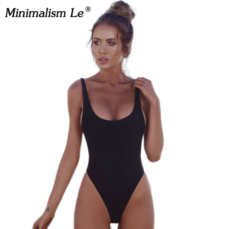 Minimalism Le One Piece Swimsuits Sexy Solid Women Bathing Suits Backless Swimwear Female Biquini Summer Beach Wear BK247 aleumdr women plus size one piece biquini feminino praia self tie swimwear bathing suits black red beach wear swimsuits 41943