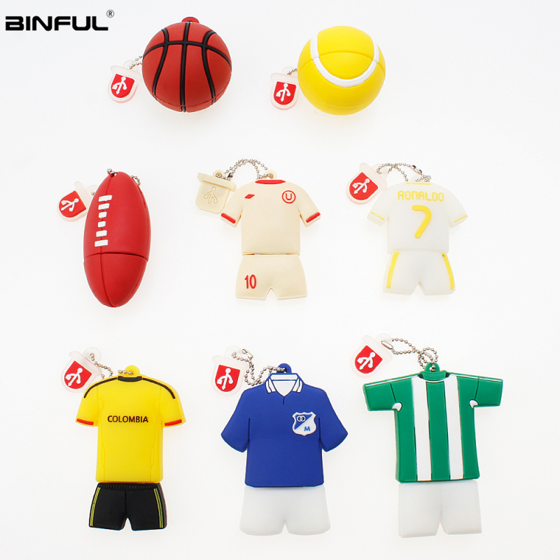 No. 7 Jersey Usb Flash Drive 4GB 8GB 16GB Pen Drive 32GB 64GB 128GB High Quality Pendrive Cartoon Usb Stick Gift Free Shipping-in USB Flash Drives from Computer & Office