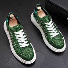 Stephoes New Men Fashion Casual Shoes Spring Autumn Rivets G