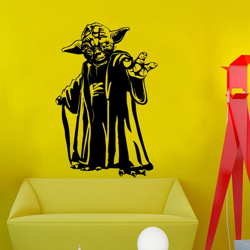 Nuovo design Master Yoda adesivo da parete home decor Film in vinile art house decorazione rimovibile Star Wars decalcomania