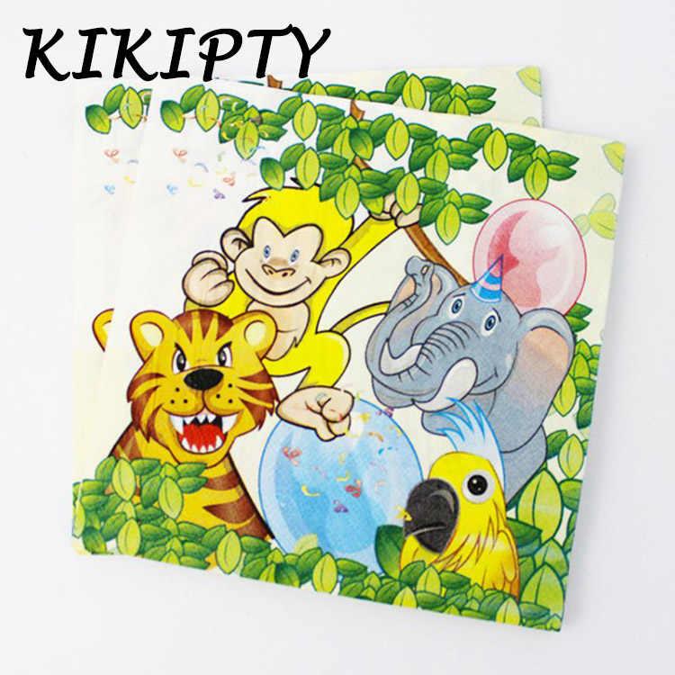 Jungle Lion king theme Party กระดาษผ้าเช็ดปาก/จาน/ถ้วย baby shower birthday party ตกแต่งเด็กโปรดปราน tableware อุปกรณ์