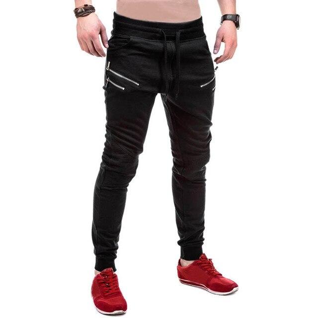 Men  Pants 2016 Men Casual Jogger Sweatpants Harem Pants Men Unique Pockets Pantalones Hombre 3 Colors Plus Size
