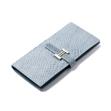 2017 New Women Genius Leather Snake Pattern Wallet Female Coin Purse Ladies Real Cow Leather Women