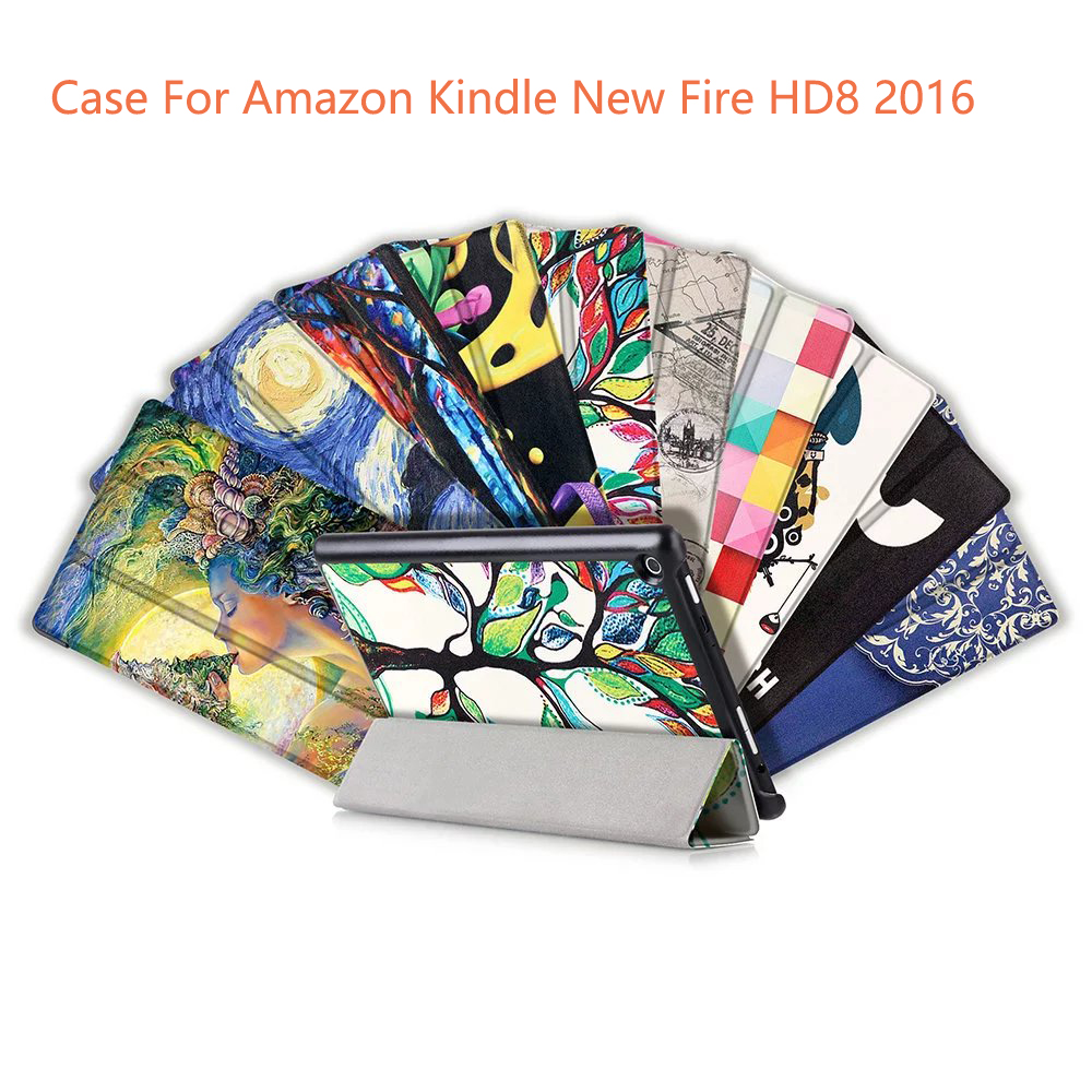Kindle fire protective case kindle fire protective case images - 2016 Newest Case For Amazon Kindle New Fire Hd8 2016 High Quality Stand Custer Pu Leather Case Cover Screen Film Pen Otg