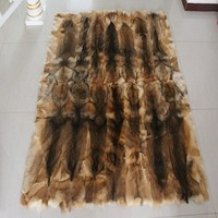 100% genuine rabbit fur rug 180*200cm , rabbit fur bed sheet,twin size fur mattress, rabbit fur carpet for living room