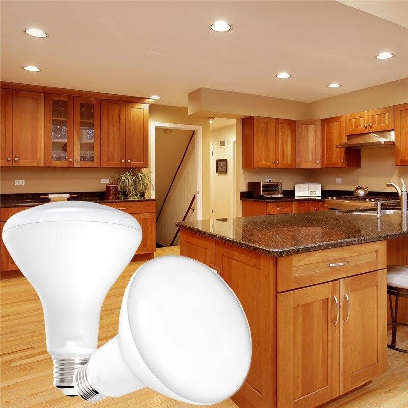 Купить с кэшбэком ZjRight AC85-265V diameter R39 R50 R63 R80 LED bulb 4W 6W 9W 12W 15W lighting lamp E14 E27 Warm White Cold White SpotLight light