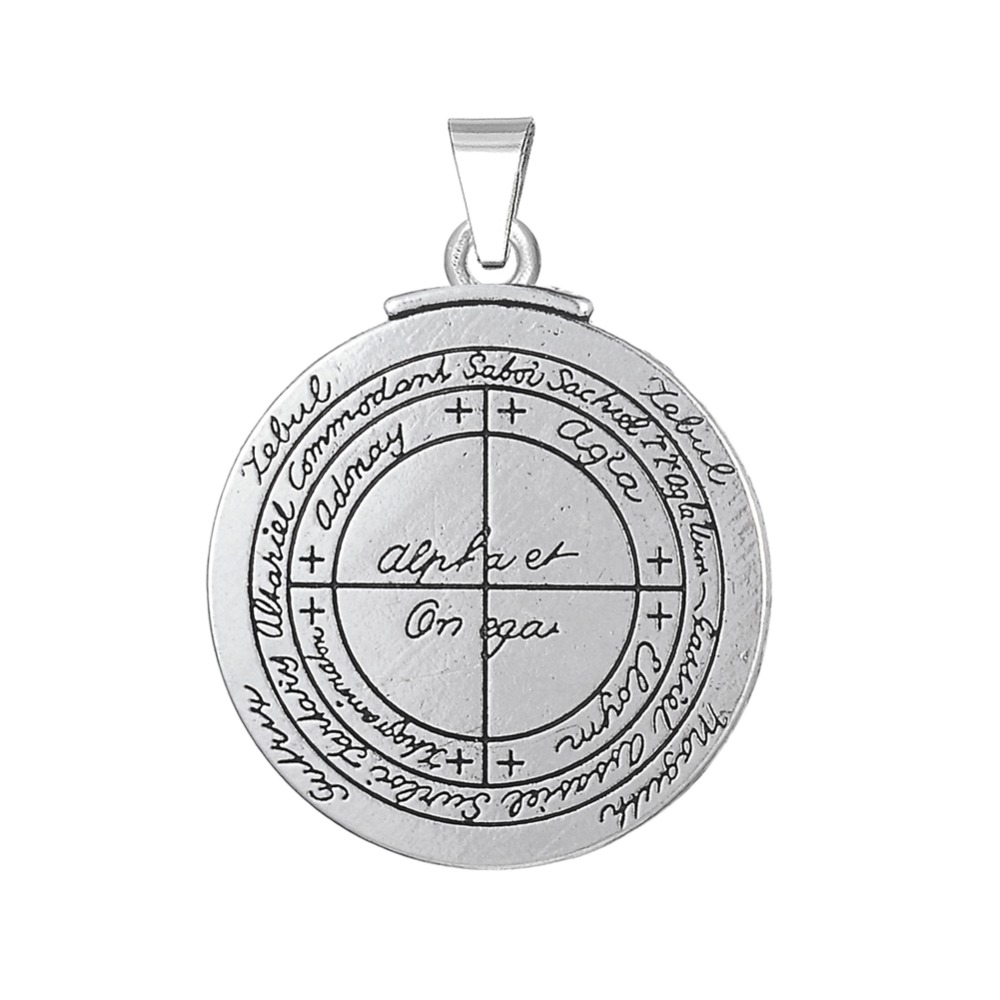 US $0 42 40% OFF|Dawapara Good Luck Key of Solomon pagan pendants jewelry  making pentagram wicca charms amulet talisman-in Pendants from Jewelry &