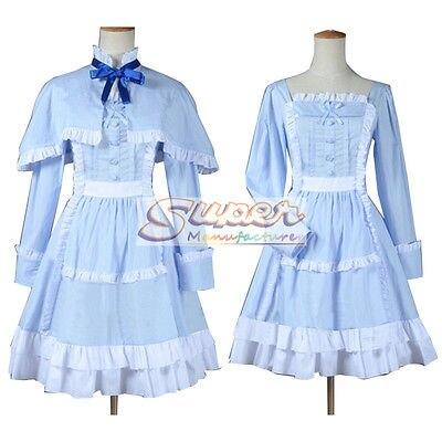DJ DESIGN Another Mei Misaki LO Blue Dress Cloak Uniform COS Clothing Cosplay Costume