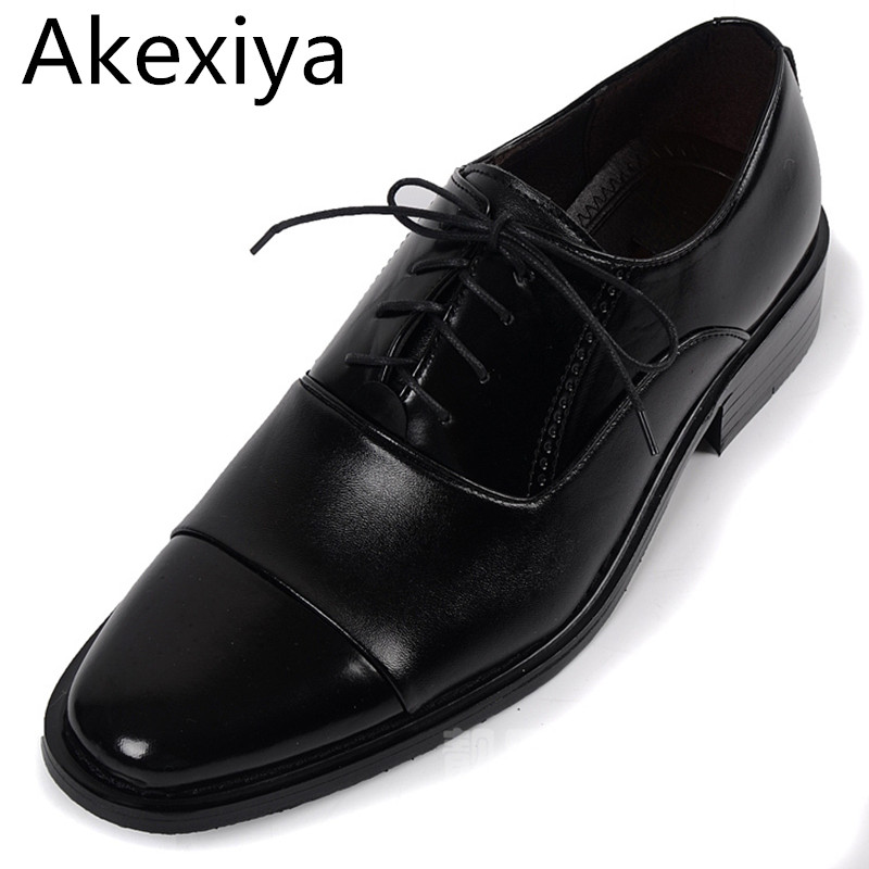 Avocado Store Akexiya New 2017 Men Leather Shoes Oxford Fashion Lace-up Dress Shoes Casual Solid Flats Free Shipping