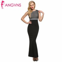 ANGVNS Ball Gown Formal Dress Party Elegant Plaid Striped Long Maxi Dresses Fitness Mermaid Dress Party Evening Women Clothing